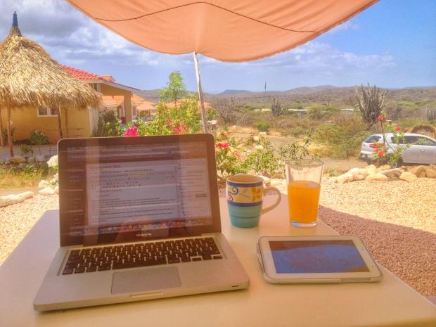 Office in the sun...